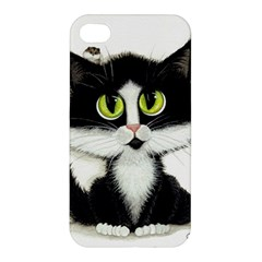 Tuxedo Cat By Bihrle Apple Iphone 4/4s Hardshell Case by AmyLynBihrle