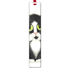 Tuxedo Cat By Bihrle Large Bookmark