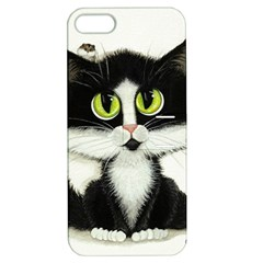 Tuxedo Cat By Bihrle Apple Iphone 5 Hardshell Case With Stand