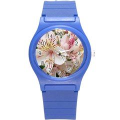 Flower Alstromeria Plastic Sport Watch (small) by ADIStyle