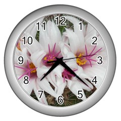Bloom Cactus  Wall Clock (silver) by ADIStyle