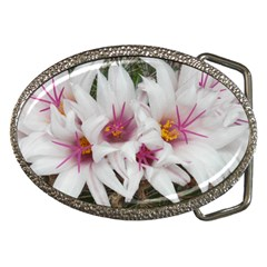 Bloom Cactus  Belt Buckle (oval)