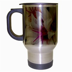 Bloom Cactus  Travel Mug (silver Gray) by ADIStyle