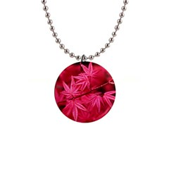 Red Autumn Button Necklace