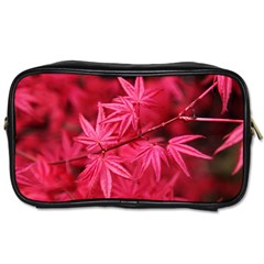 Red Autumn Travel Toiletry Bag (two Sides) by ADIStyle