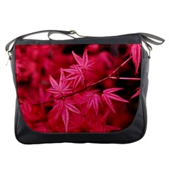 Red Autumn Messenger Bag by ADIStyle