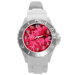 Red Autumn Plastic Sport Watch (large) by ADIStyle