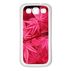 Red Autumn Samsung Galaxy S3 Back Case (white) by ADIStyle