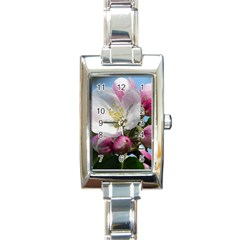 Apple Blossom  Rectangular Italian Charm Watch by ADIStyle