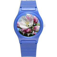 Apple Blossom  Plastic Sport Watch (small) by ADIStyle