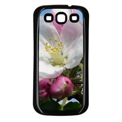 Apple Blossom  Samsung Galaxy S3 Back Case (black) by ADIStyle