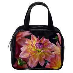 Dahlia Garden  Classic Handbag (one Side) by ADIStyle