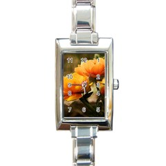 Flowers Butterfly Rectangular Italian Charm Watch by ADIStyle