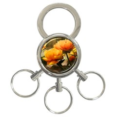 Flowers Butterfly 3 Ring Key Chain