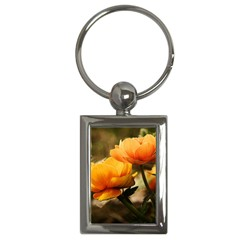 Flowers Butterfly Key Chain (rectangle)