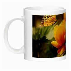 Flowers Butterfly Glow In The Dark Mug by ADIStyle