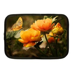 Flowers Butterfly Netbook Case (medium) by ADIStyle