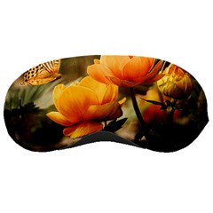 Flowers Butterfly Sleeping Mask by ADIStyle