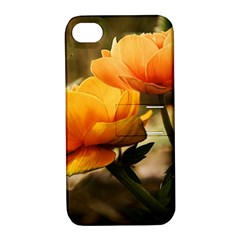 Flowers Butterfly Apple Iphone 4/4s Hardshell Case With Stand