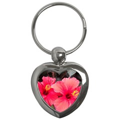 Red Hibiscus Key Chain (heart) by ADIStyle