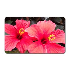 Red Hibiscus Magnet (rectangular) by ADIStyle