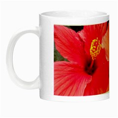 Red Hibiscus Glow In The Dark Mug by ADIStyle