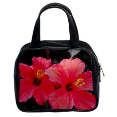 Red Hibiscus Classic Handbag (two Sides) by ADIStyle