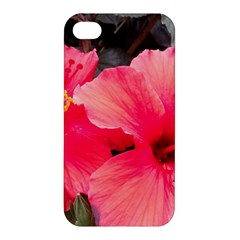 Red Hibiscus Apple Iphone 4/4s Premium Hardshell Case by ADIStyle