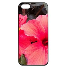 Red Hibiscus Apple Iphone 5 Seamless Case (black) by ADIStyle