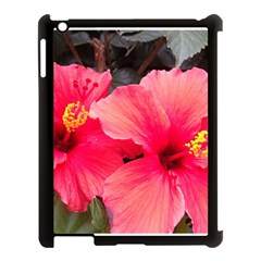 Red Hibiscus Apple Ipad 3/4 Case (black) by ADIStyle