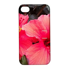 Red Hibiscus Apple Iphone 4/4s Hardshell Case With Stand by ADIStyle