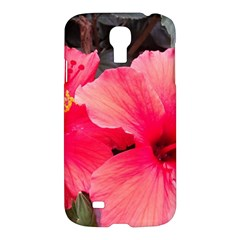 Red Hibiscus Samsung Galaxy S4 I9500 Hardshell Case by ADIStyle