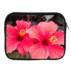 Red Hibiscus Apple Ipad 2/3/4 Zipper Case by ADIStyle