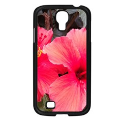 Red Hibiscus Samsung Galaxy S4 I9500 (black) by ADIStyle
