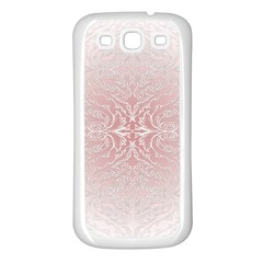 Elegant Damask Samsung Galaxy S3 Back Case (white) by ADIStyle