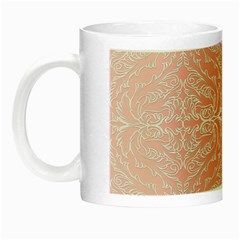 Pink Elegant Damask Glow In The Dark Mug by ADIStyle