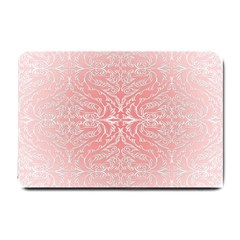 Pink Elegant Damask Small Door Mat by ADIStyle