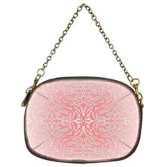 Pink Elegant Damask Chain Purse (two Side) by ADIStyle