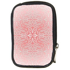 Pink Elegant Damask Compact Camera Leather Case by ADIStyle