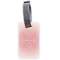 Pink Elegant Damask Luggage Tag (one Side) by ADIStyle