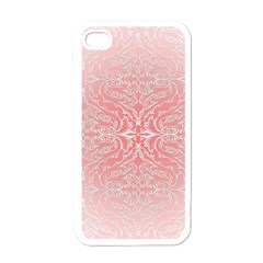 Pink Elegant Damask Apple Iphone 4 Case (white) by ADIStyle