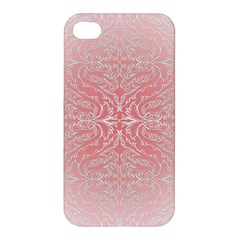 Pink Elegant Damask Apple Iphone 4/4s Hardshell Case by ADIStyle