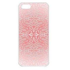 Pink Elegant Damask Apple Iphone 5 Seamless Case (white) by ADIStyle
