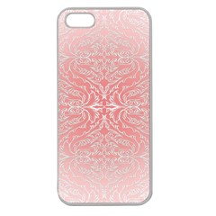 Pink Elegant Damask Apple Seamless Iphone 5 Case (clear) by ADIStyle