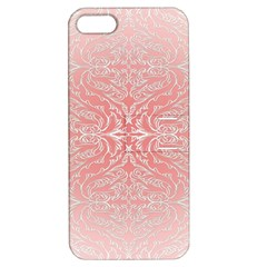 Pink Elegant Damask Apple Iphone 5 Hardshell Case With Stand by ADIStyle