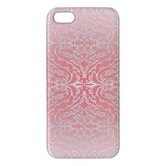 Pink Elegant Damask Iphone 5 Premium Hardshell Case by ADIStyle