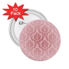 Luxury Pink Damask 2 25  Button (10 Pack) by ADIStyle