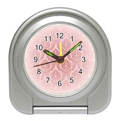 Luxury Pink Damask Desk Alarm Clock by ADIStyle