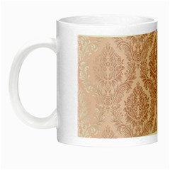 Luxury Pink Damask Glow In The Dark Mug by ADIStyle