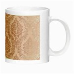Luxury Pink Damask Glow in the Dark Mug Right